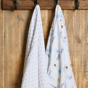 Image of Blue Fox Organic XL Muslin Swaddles