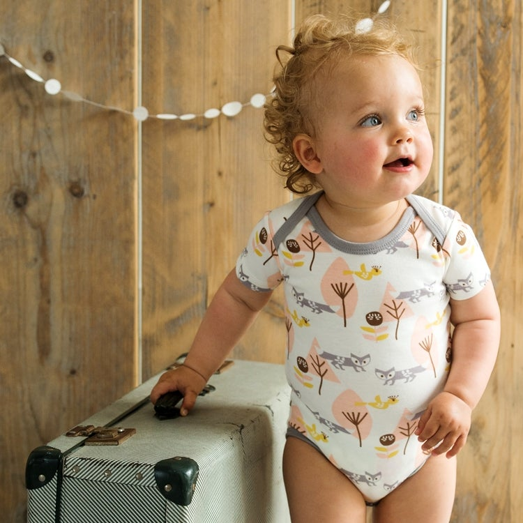 Image of Organic Short Sleeve Baby Bodysuit