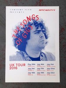 Image of Daniel Wakeford Tour - Screenprinted Poster