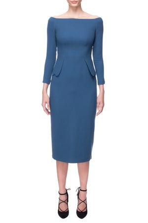 Bell Heather Dress (Blue) $885.00 - Melissa Bui