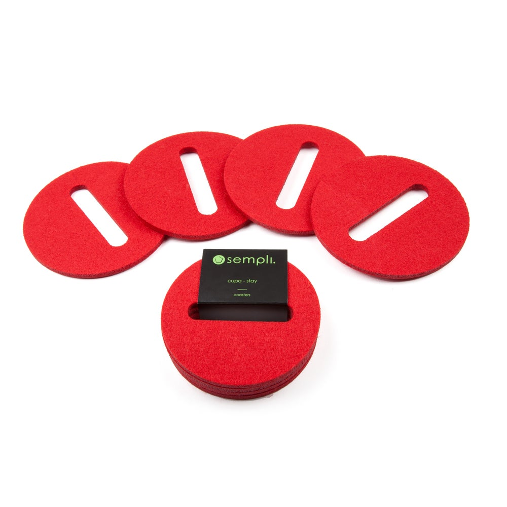 Image of Cupa-Stay Coasters Red