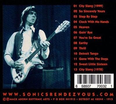 Image of SONIC'S RENDEZVOUS - CITY SLANG (CD CLOSEOUT)