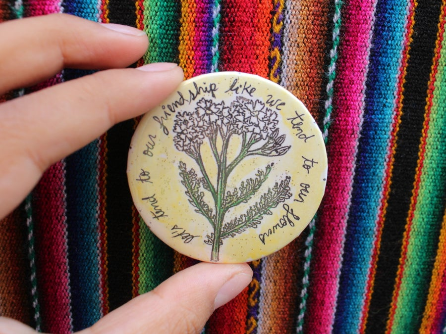 Image of Yarrow Friendship Pin