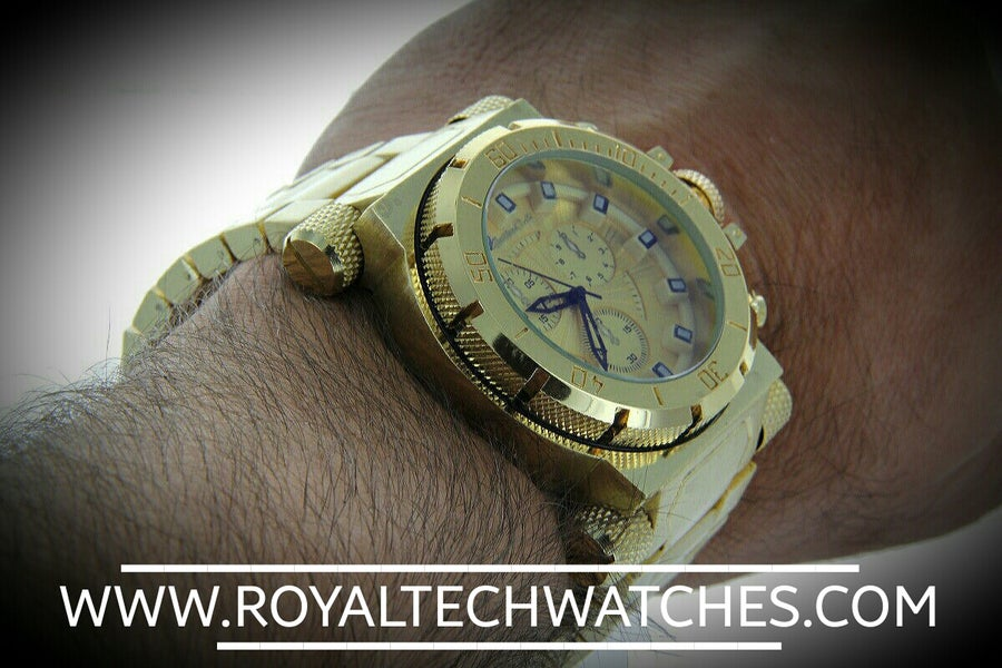 Image of MEN'S ALL GOLD DIVING WATCH MONTRES CARLO GOLD STEEL