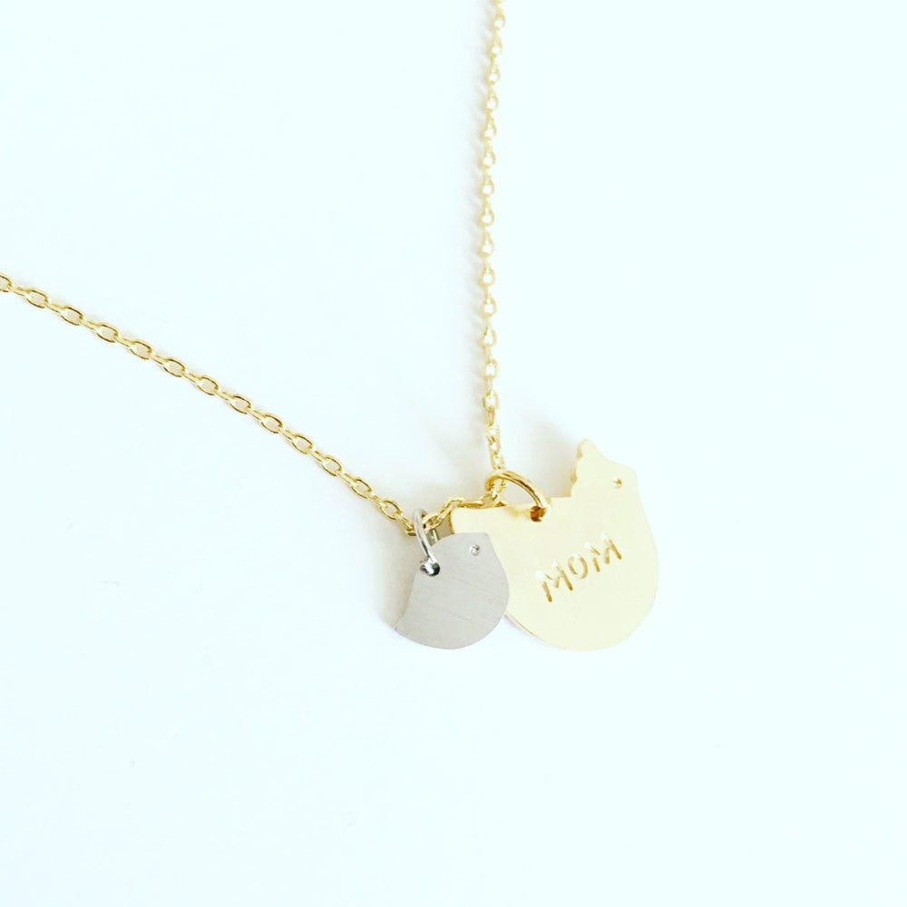 Image of Mama Bird necklace custom