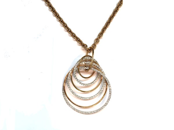 Image of Yellow Gold And Diamond Necklace