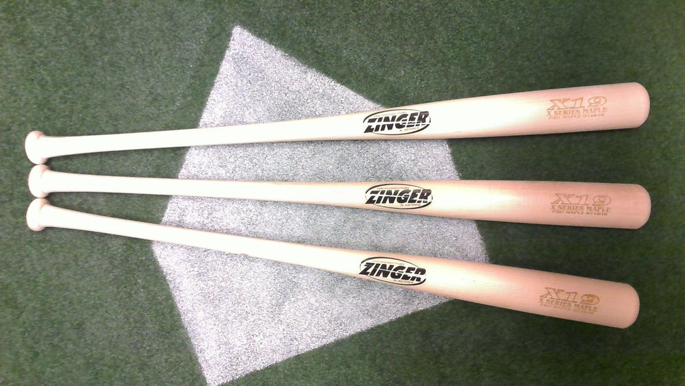Image of X19 - 3 Bat Pack - All Natural Pro Maple w/ Ink Dot