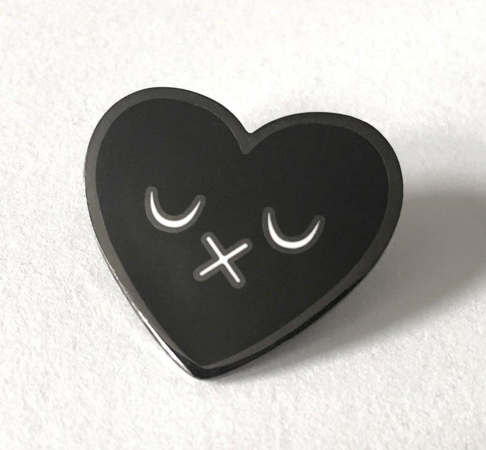 Image of Black Heart Hard Enamel Pin