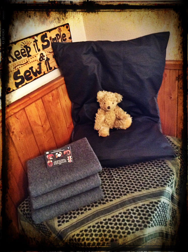 Image of Oilskin & Wool Pillowcase