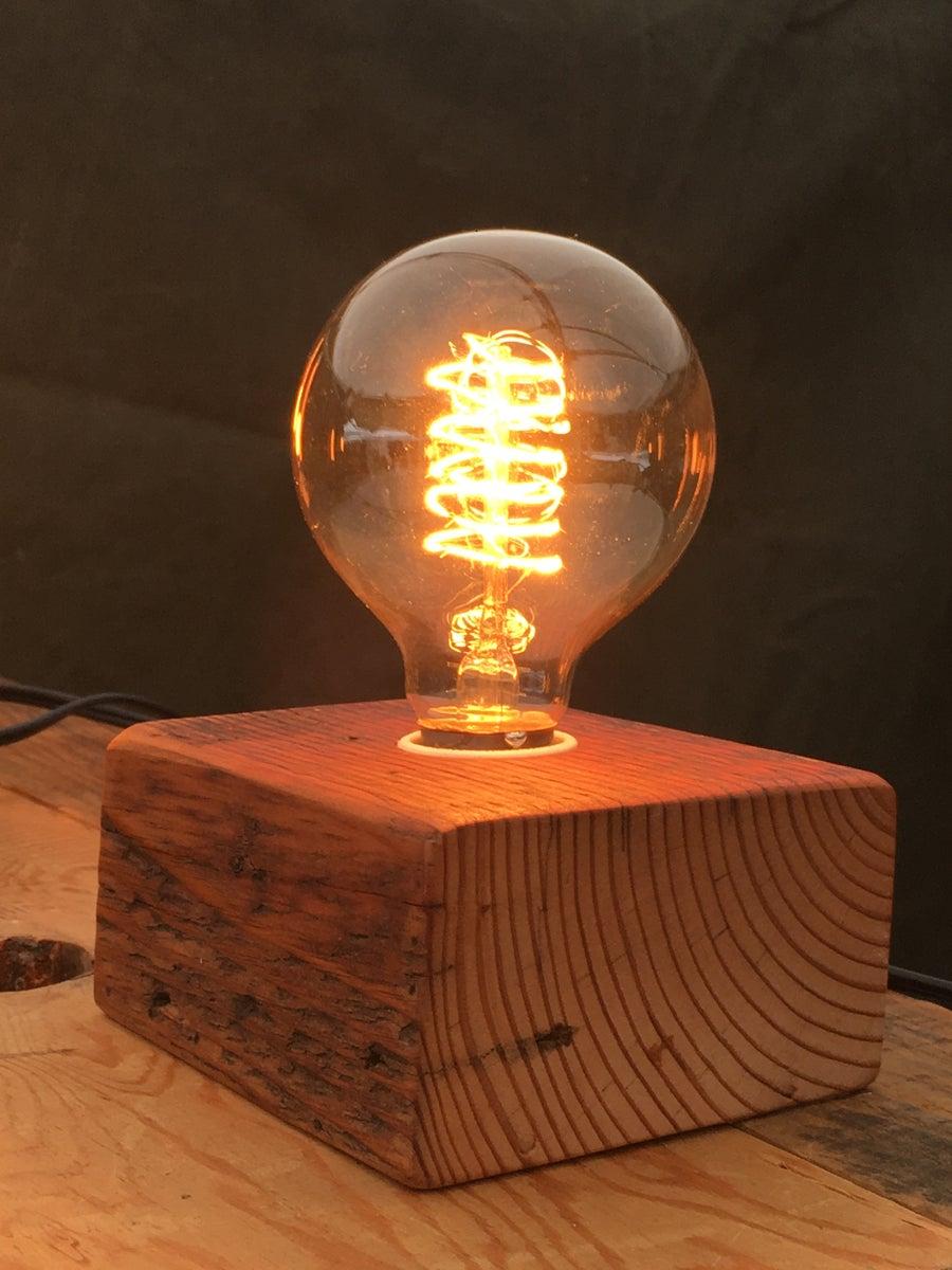 Bengston Woodworks Wood Block Lamps