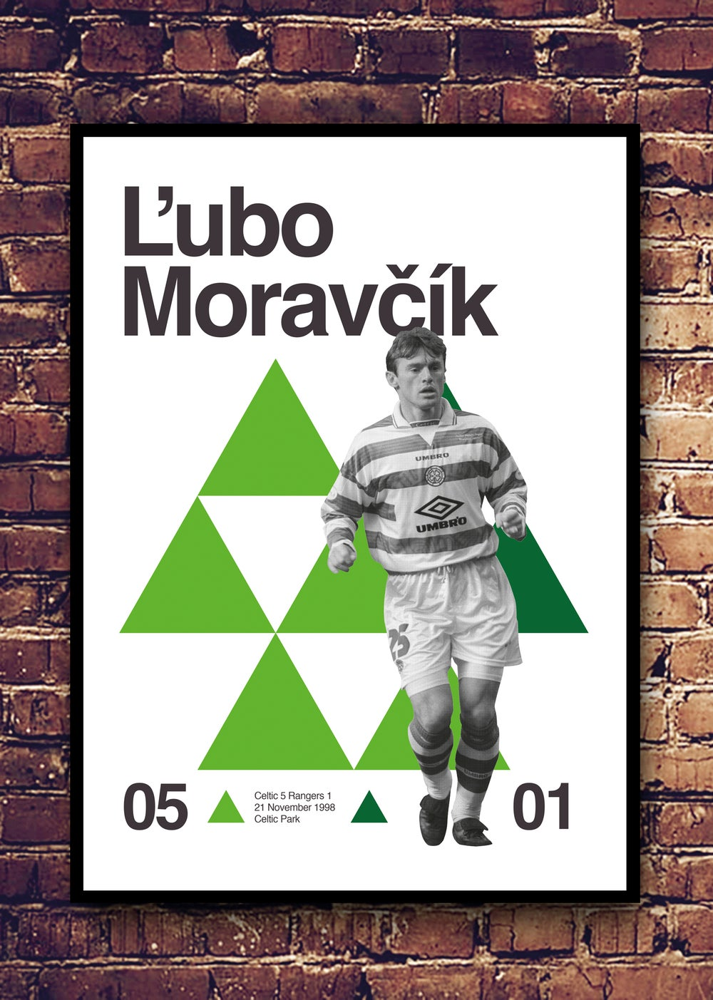 Image of LUBO MORAVCIK - CELTIC 5 RANGERS 1