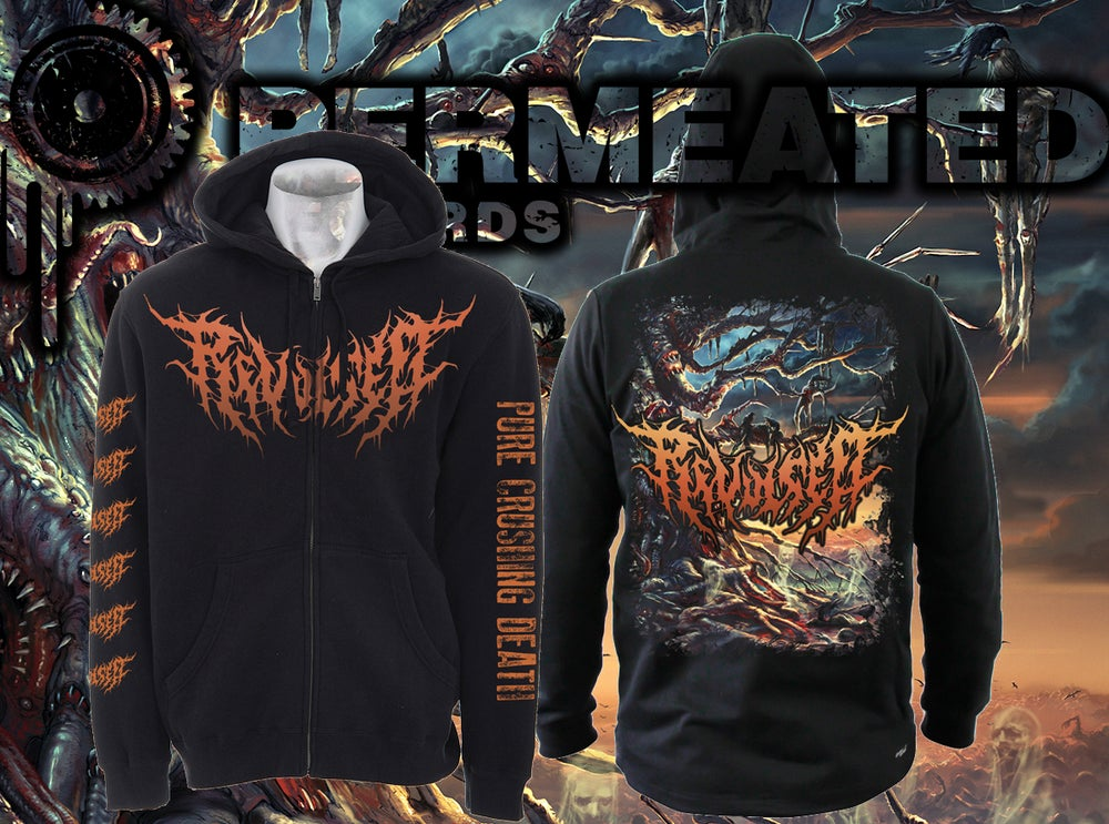 Image of Revulsed - Infernal Atrocity - Zipper Hoodie