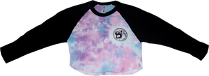 Image of SK8RATS Tie Dye Crop Top Baseball T-Shirt