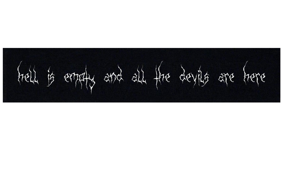 Image of Hell Is Empty and All the Devils Are Here Shakespeare Patch