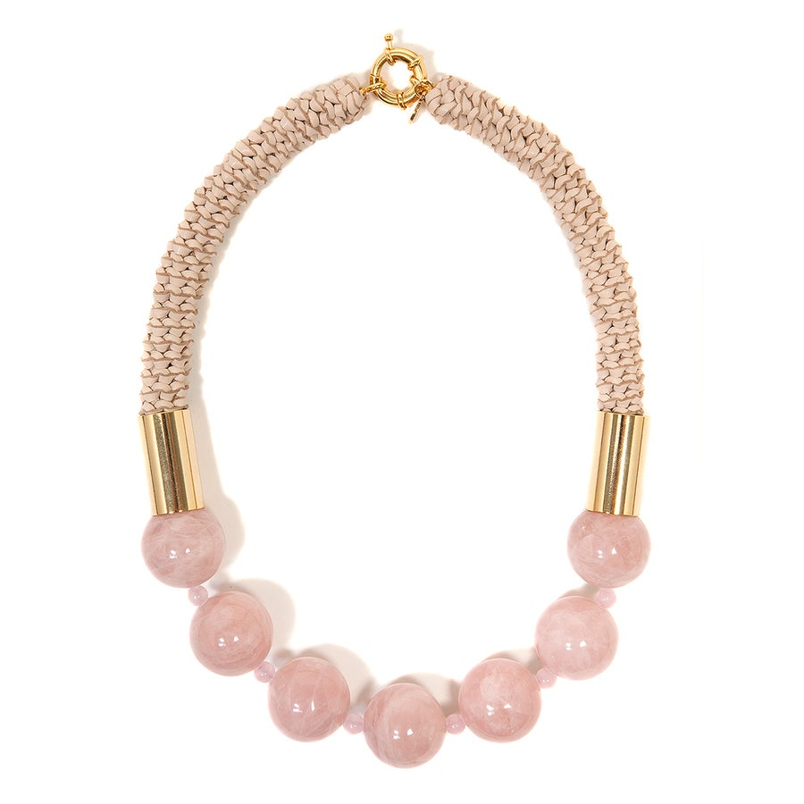 "Image of ""Dusk Ice"" Rose Quartz Neckpiece"