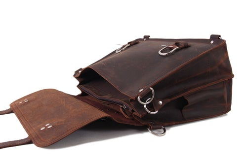Image of Handmade Vintage Leather Briefcase/Backpack, Men Messenger Bag, Laptop Bag 7161R