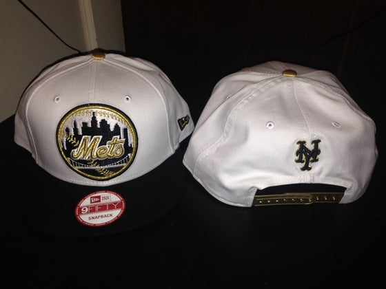 "Image of New Era NY Mets SnapBack ""White/Black/Gold"""