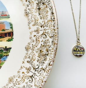 "Image of ""Oh the Places You'll Go"" Travel Necklace"