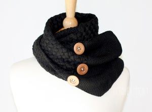 Image of Button Knit Infinity Scarf, 5 colors