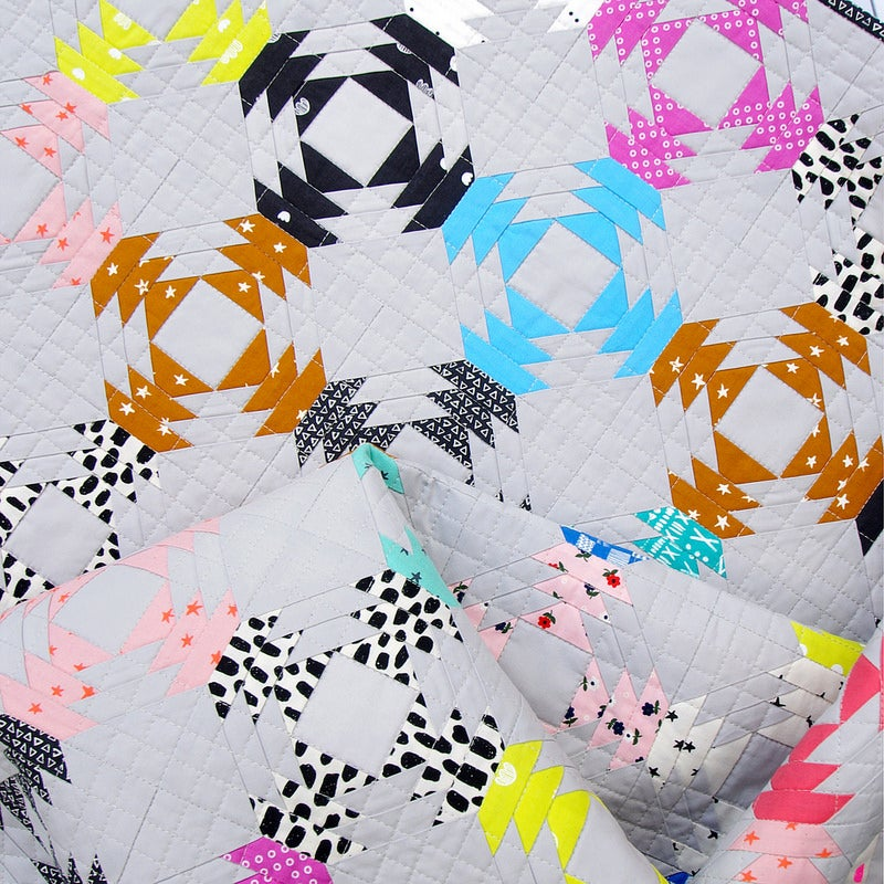 Image of Printshop Pineapple Block - Foundation Paper Piecing Pattern only.