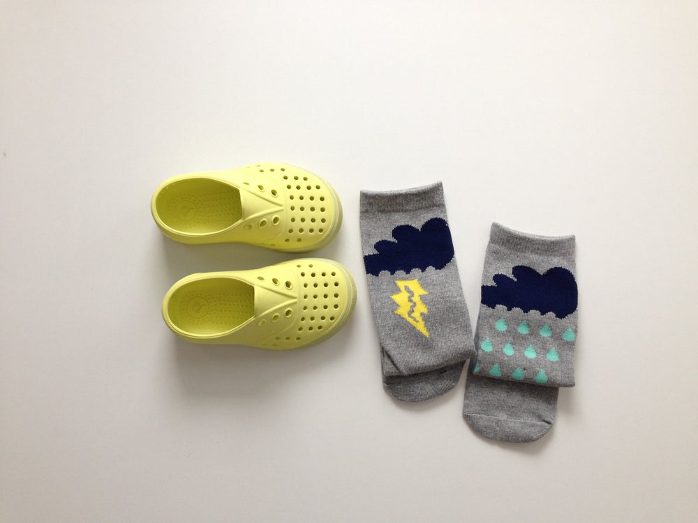 Image of Grey Raincloud Socks