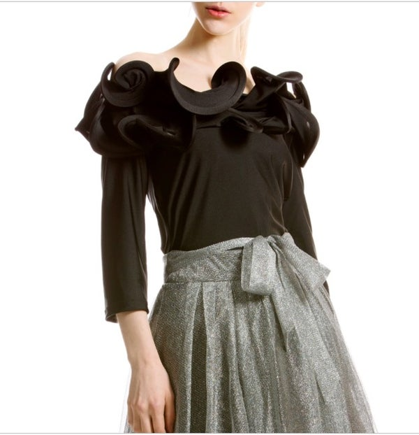 Image of Ruffle shoulder top
