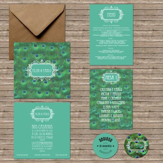 Image of INVITACIÓN PAVO REAL