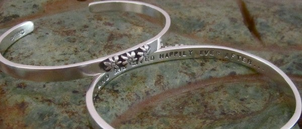 "Image of ""And She Lived Happily Ever After"" Sterling Bracelet"