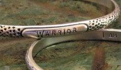 """Image of """"WARRIOR ~ I Am Strong"""" Sterling Bracelet"""