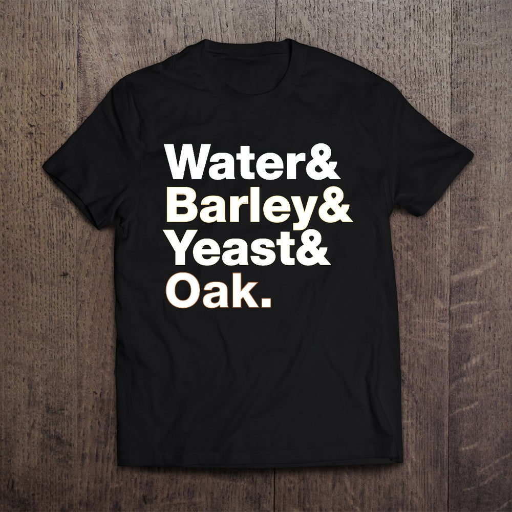 Image of Water & Barley & Yeast & Oak - Ash Black T-Shirt