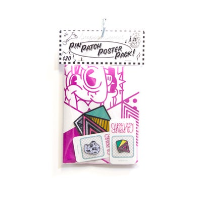 Image of 2 Pin 1 Patch Poster Pack