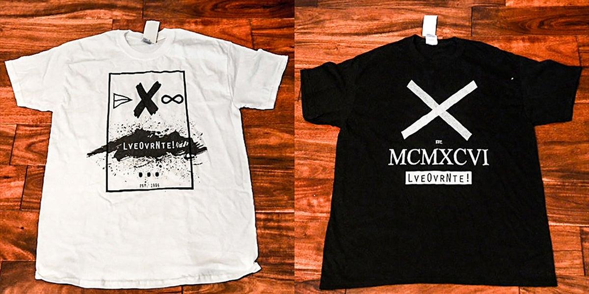 Image of Loveovernite! Black Roman Numeral x White Rectangle Logo (BUNDLE)