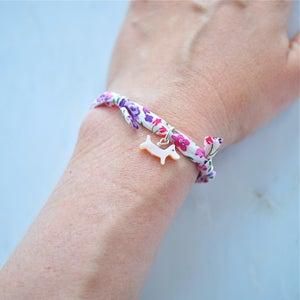 Image of Pink dog Liberty print bracelet