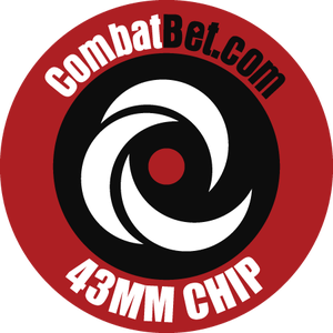 """Image of 43mm (1.7"""") Custom CombatBet Chips - Minimum Order is 100 Chips"""