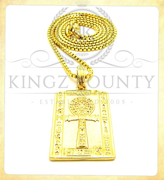 Image of GOLD PLATE AHNK w/ BOX CHAIN