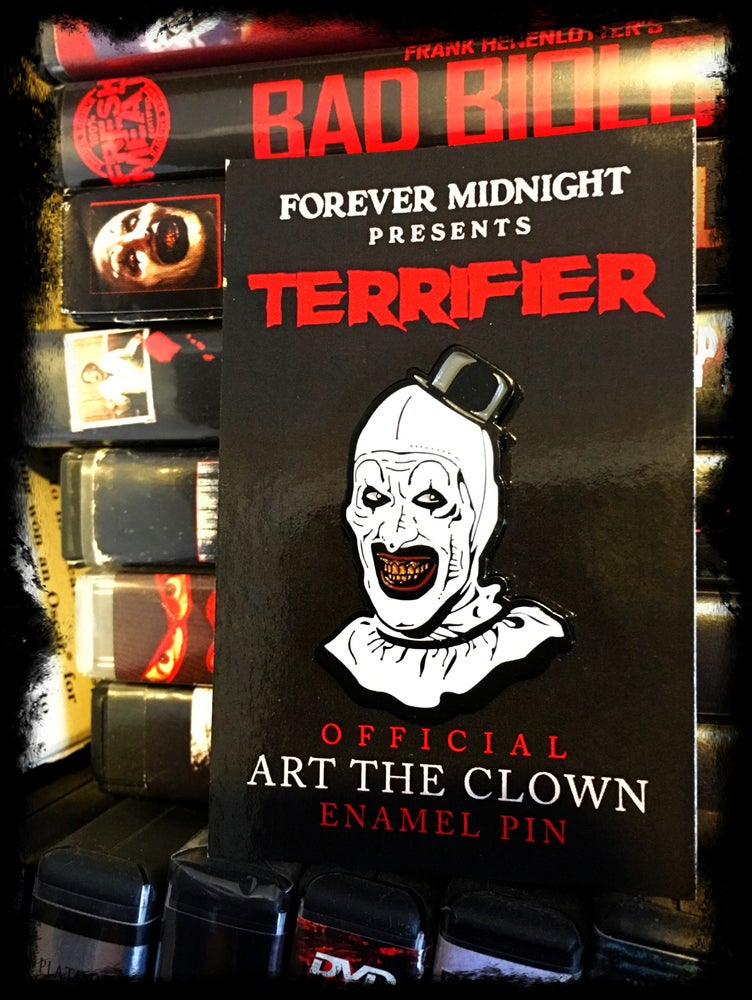 "Image of Official ""Art The Clown"" enamel pin"