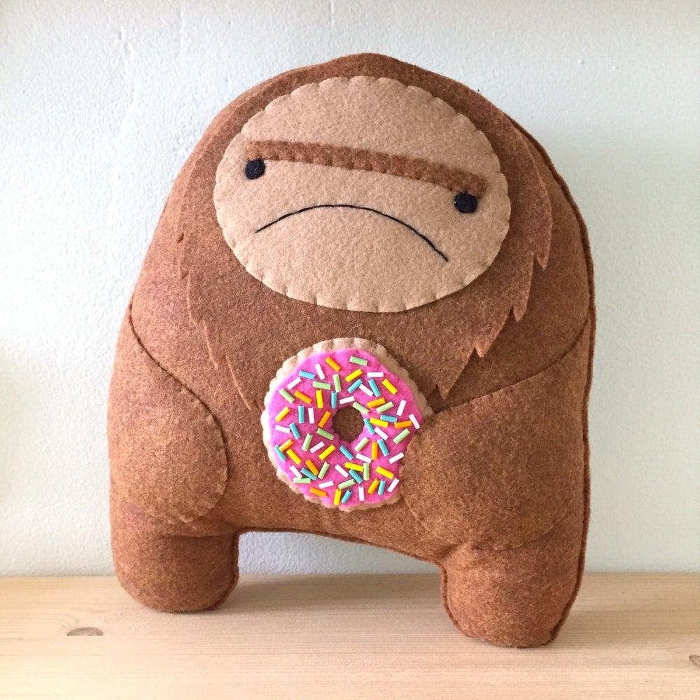 Image of XL sasquatch plush -- choose donut or taco