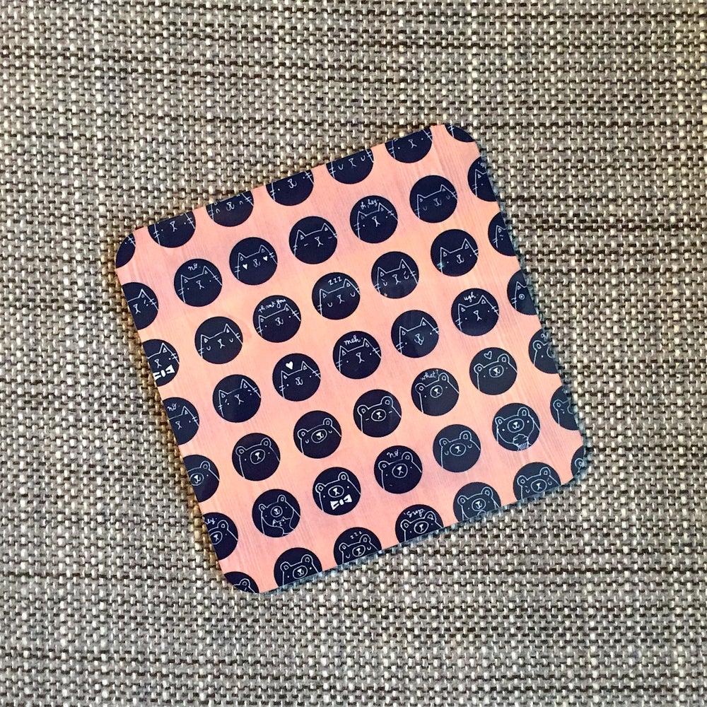 Image of animal dot coasters