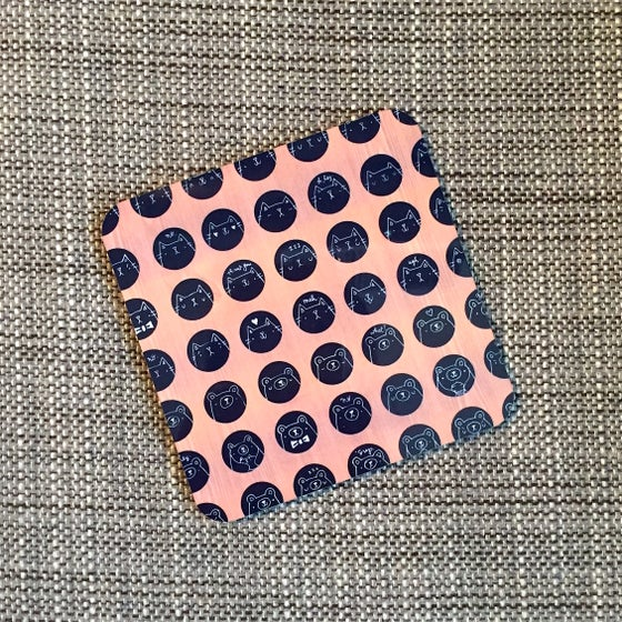 Image of animal dot coasters