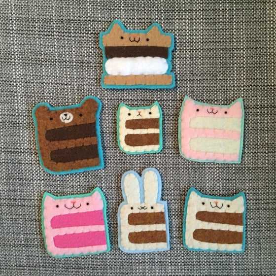 Image of animal cake brooches