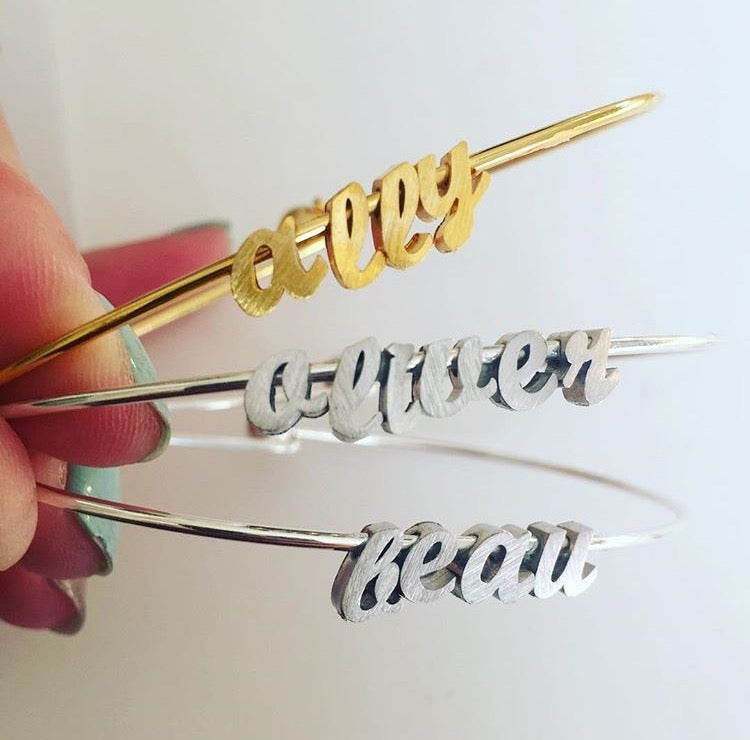 Image of CREATE YOUR OWN CURSIVE BANGLE