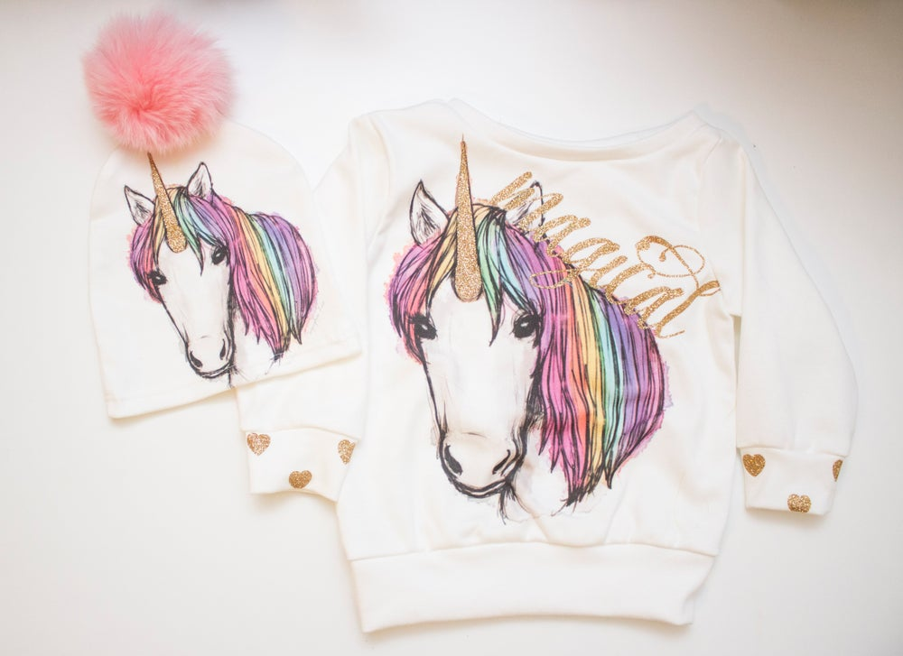Unicorn Sweatshirt for Babies and Toddlers