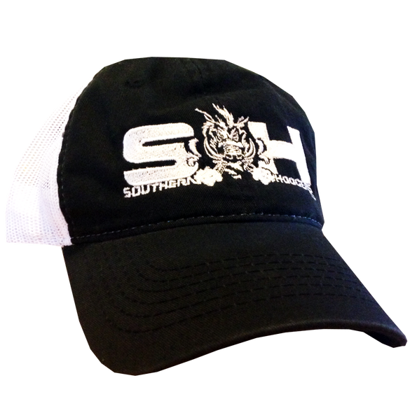 Image of SH Black Snapback Mesh Hat