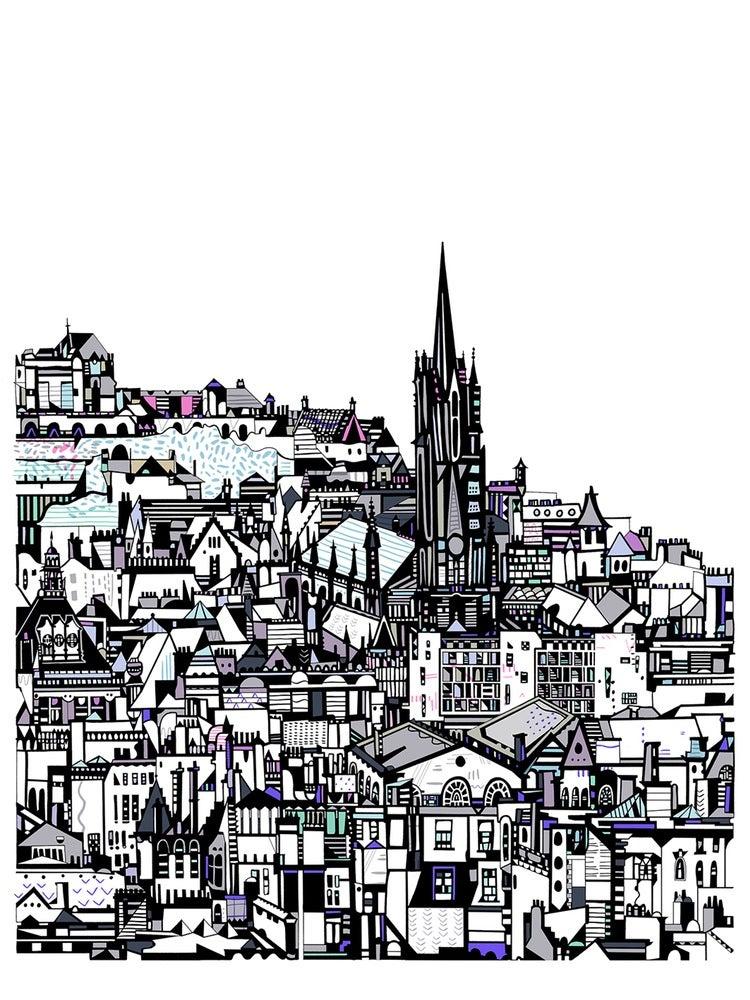 Image of LARGE Edinburgh City Giclee Print