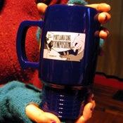 Image of 2008 Portland Zine Symposium Coffee Mug (made from corn plastic!)