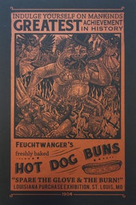 "Image of ""Wiener Mania - The Birth of The Hot Dawg"" Commemorative Poster"