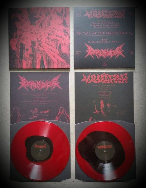 Image of VASSAFOR/TEMPLE NIGHTSIDE - Call of the Maelstrom split LP (2nd pressing)