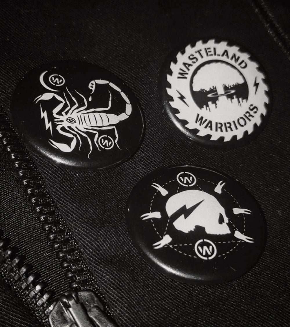 Image of 3 Warrior Buttons