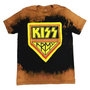 "Image of Rock Hard ""Kiss Army"" Bleached Tee"