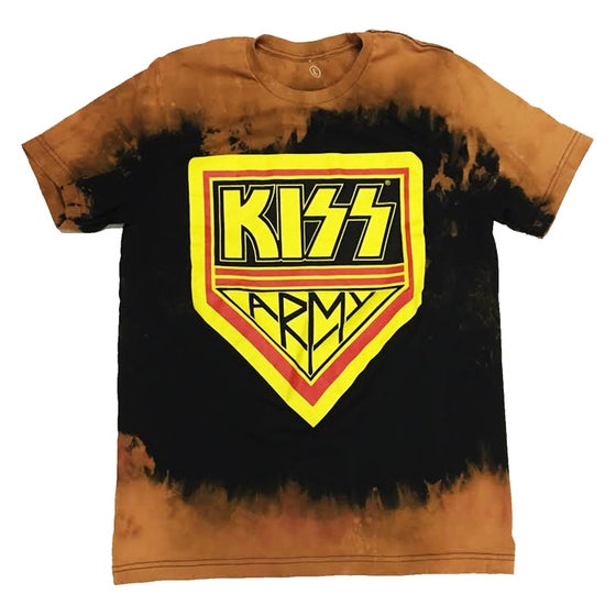 """Image of Rock Hard """"Kiss Army"""" Bleached Tee"""